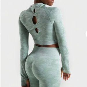 Gymshark |Set jade seamless crop leggings camo set